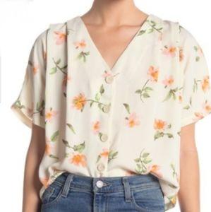 Nordstrom Tops - Nordstrom Elodie V-neck Floral Button Top
